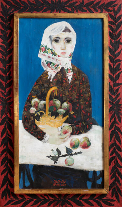 Olle Olsson Hagalund, 'Girl with apples', 1950's