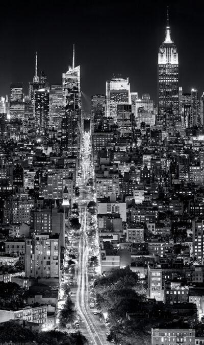 Andrew Prokos, 'Panoramic Cityscape of Manhattan at Night - Vertical', 2016