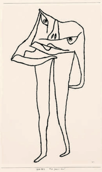 Paul Klee, 'Was fehlt ihm? (What's the Matter with Him?)', 1930