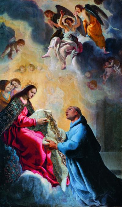 Eugenio Cajés, 'Der Heilige Ildefons empfängt von Maria die Kasel', 17th C.