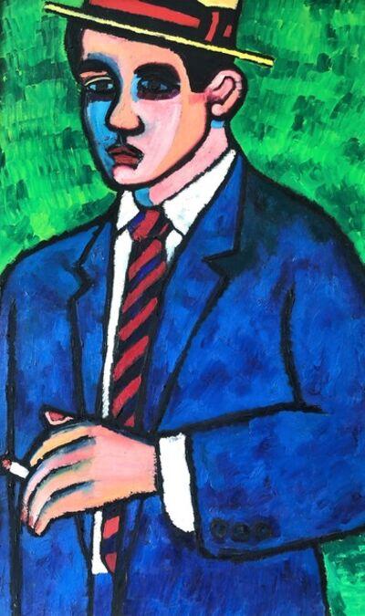 Daniel Brennan, 'Man with Straw Hat', 1960