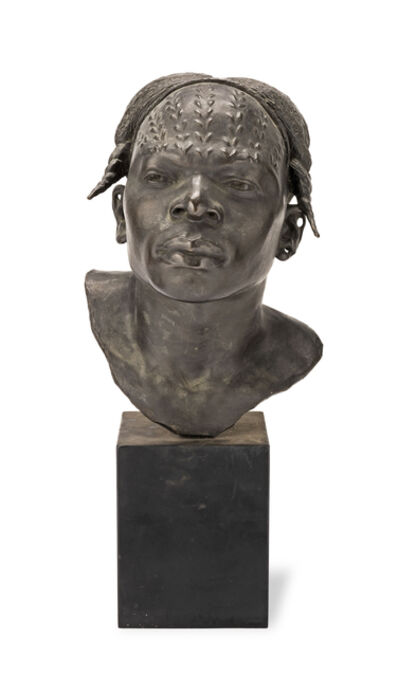 Herbert Ward, 'A patinated bronze bust of a native African head entitled 'An Aruimi Type''