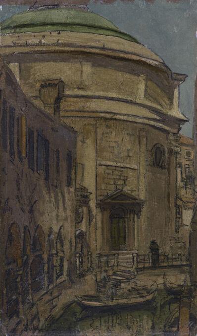 Walter Richard Sickert, 'The Church of Santa Maria Maddalena, Venice', 1895-1896