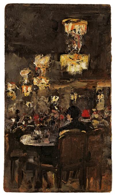 Lesser Ury, '»Caféhausszene«'