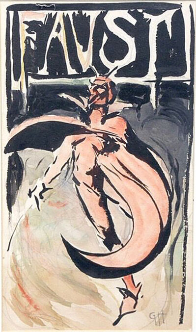 Gale Porter Hoskins, 'Faust Playbill Cover', 1906