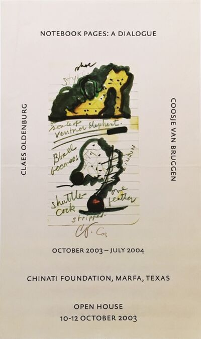 Claes Oldenburg, 'Notebook Pages: A Dialogue at the Chinati Foundation, Marfa (Hand Signed)', 2003