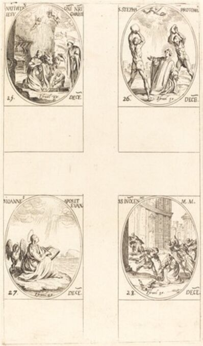 Jacques Callot, 'The Nativity; St. Stephen; St. John; Holy Innocents'