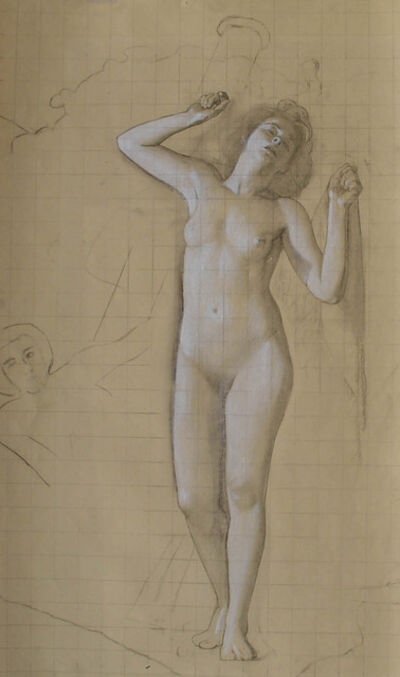 "R. H. Ives Gammell, '[Venus Rising] Study for the Hound of the Heavens, Panel XI ""Would Clash It To""', ca. 1940"