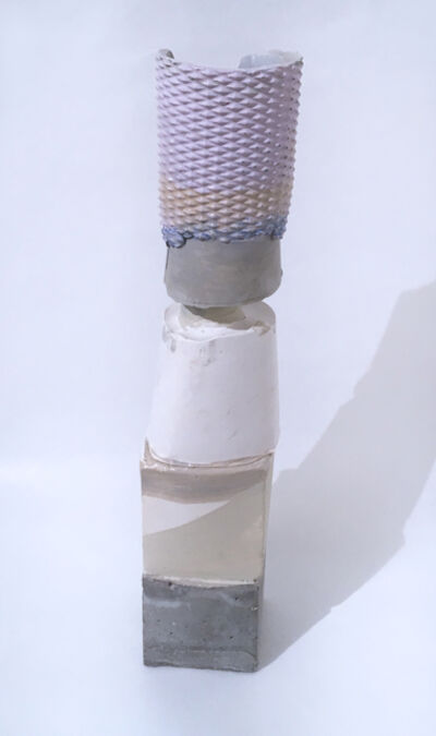 Dena Paige Fischer, 'Layered Votive Sculpture (lavendar/grey)', 2020