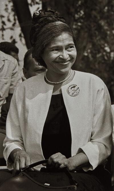 Bob Adelman, 'Rosa Parks, March on Washington, August', 1963