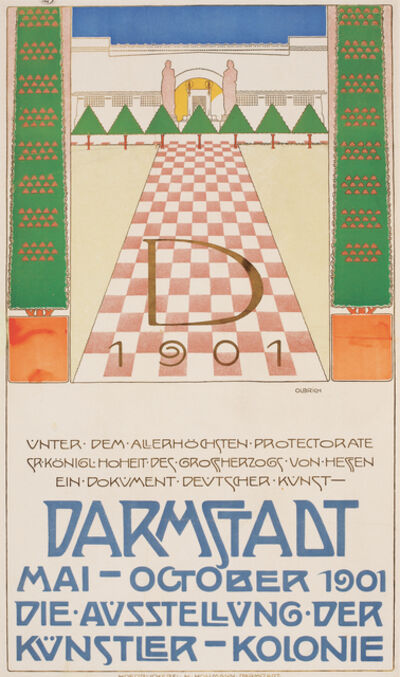 Joseph Maria Olbrich, 'Poster for an Exhibition of the Artists' Colony, Darmstadt', 1901