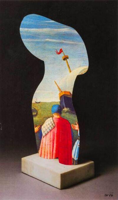 Jiri Kolar, 'Scultura levata ed inserito veliero', 1986