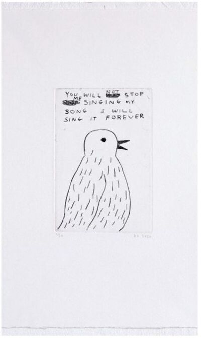 David Shrigley, 'You Will Not Stop', 2020