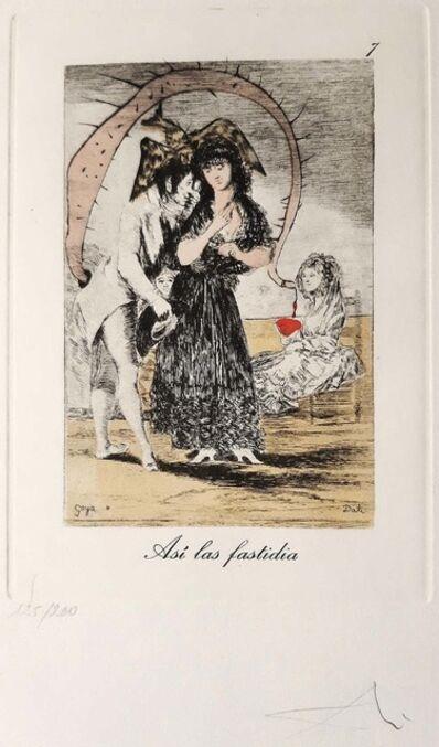 Salvador Dalí, 'Capricho de Goya n°7', 1977