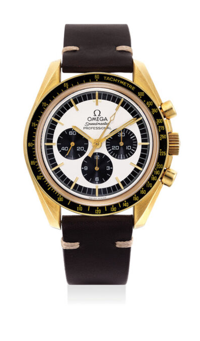 OMEGA, 'A very fine and rare yellow gold chronograph wristwatch, made for the Japanese market, numbered 35 of a limited edition of 40 pieces', 1997