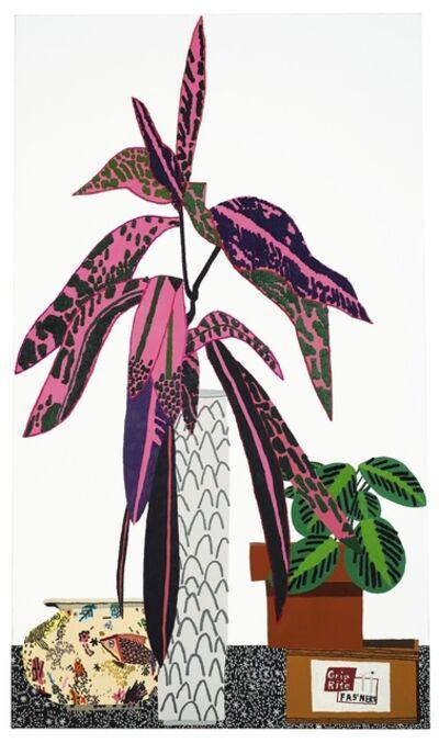 Jonas Wood, 'Pink Plant Two'