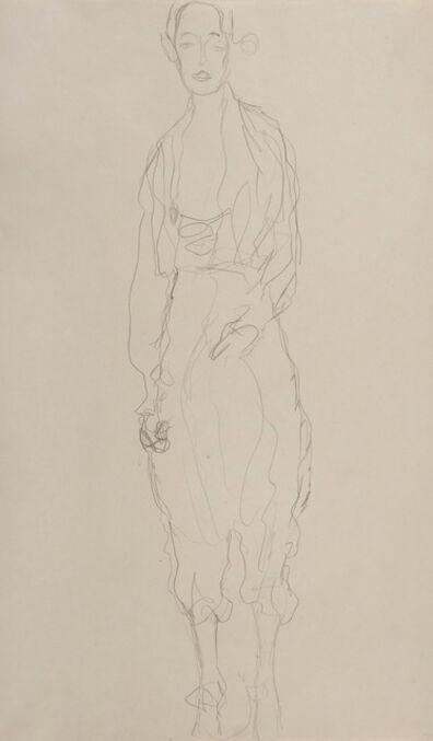 Gustav Klimt, 'Portrait d'une femme debout en pantalon', 1916-1918