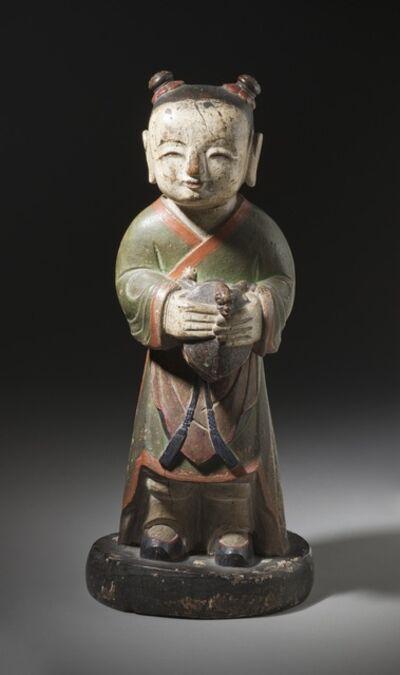'Altar Attendant (Tongja) Holding a Turtle', Joseon dynasty (1392-1910); 18th century