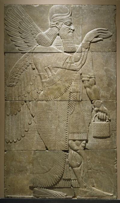'Relief with Winged Genius', 883-859 B.C.