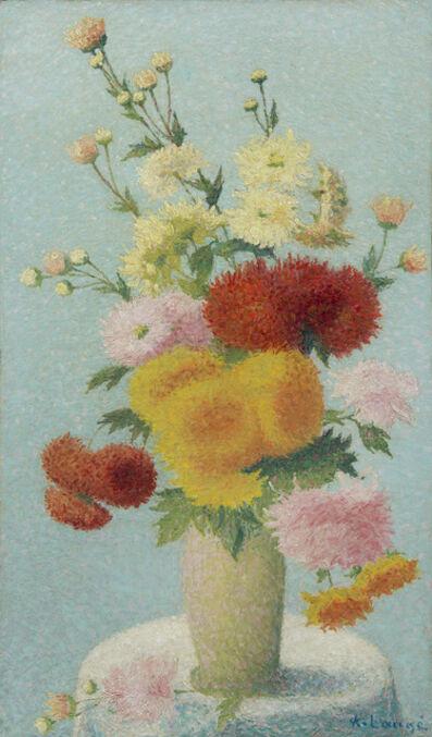 Achille Laugé, 'Chrysanthèmes dans un vase', Unknown