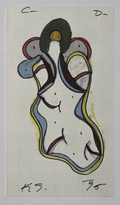 Keith Sonnier, 'Cat Doucet Drawing X (Cat Doucet Series)', 1995