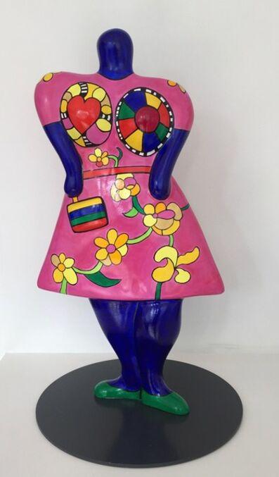 Niki de Saint Phalle, 'Nana,Lady with handbag (vase)', 2000
