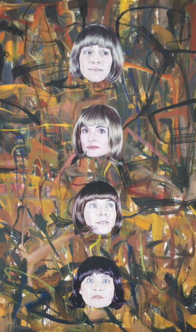 Jim Shaw, 'Untitled (4 faces vertical)', 2008