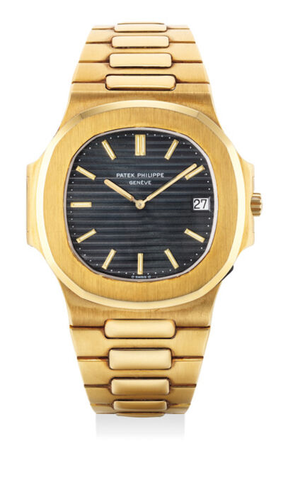 Patek Philippe, 'A fine and very rare yellow gold wristwatch with date, bracelet, certificate and presentation box', Circa 1983