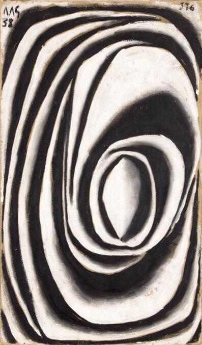 Joaquín Torres-García, 'Forma abstracta en espiral modelada en blanco y negro (Spiral abstract form modeled in white and black)', 1938