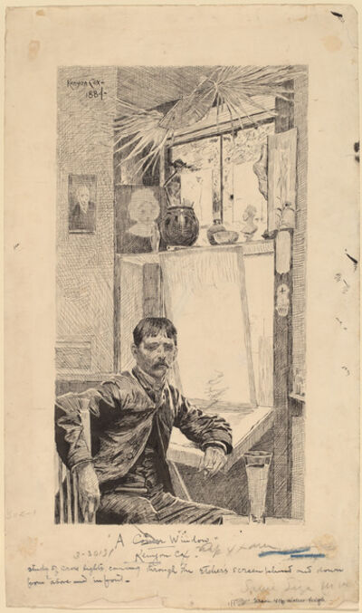 Kenyon Cox, 'A Corner Window, Will Low', 1884