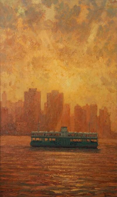 Pip Todd-Warmoth, 'Hong Kong Ferry at Sunset', 2018
