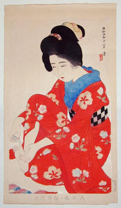 Kobayawaka Kiyoshi, 'Styles of Contemporary Make-up: no. 3, Nails', 1930