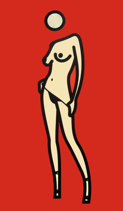 Julian Opie, 'Woman taking off pants 5', 2003