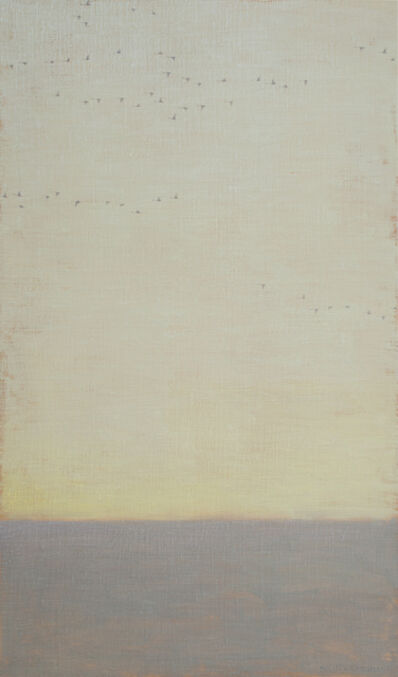 David Grossmann, 'Strands of Geese on Grey Sky', 2020