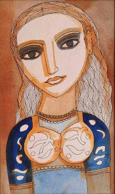 "Badri Narayan, 'The Young Bride, Watercolour on Paper by Modern Artist ""In Stock""', 2006"