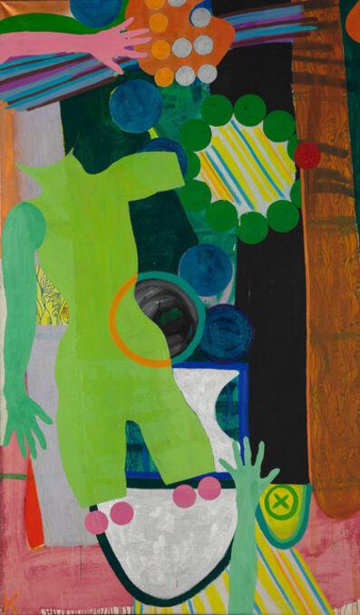 Kiki Kogelnik, 'Grüne Figur mit Ring', 1963