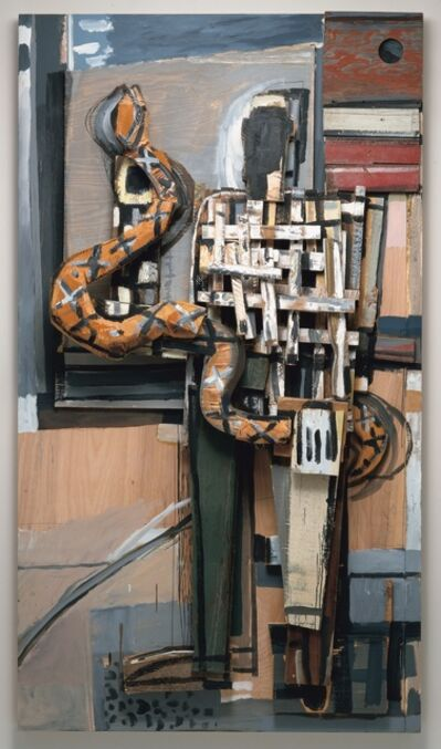 David Bates, 'Man with Snake', 1995