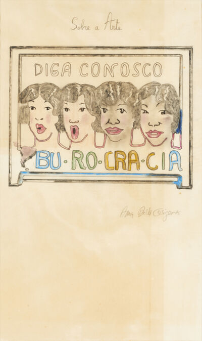 Anna Bella Geiger, 'Bu-Ro-Cra-Cia', 1976