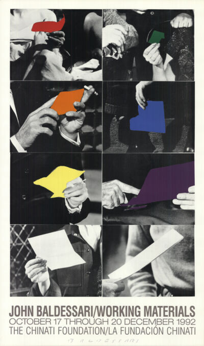 John Baldessari, 'Working Materials', 1992