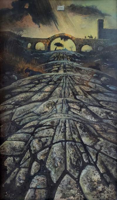 Eugene Berman, 'Una Via Romana Antica con Temporale Distante', 1962
