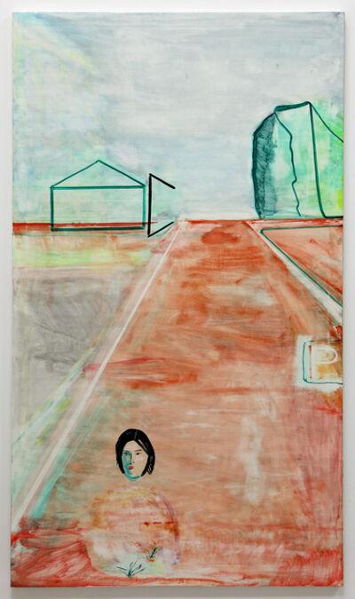 O Jun, 'Road, Woman, Parking  (Sketch of Road Cut through a Hill)', 2021