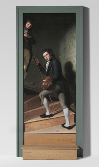 Charles Willson Peale, 'Staircase Group (Portrait of Raphaelle Peale and Titian Ramsay Peale I)', 1795