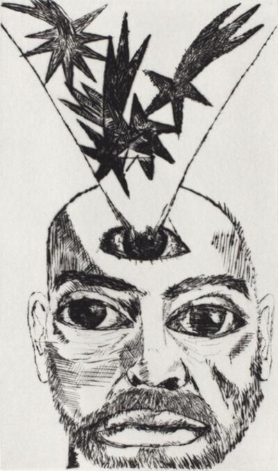 Francesco Clemente, 'Self Portrait with Stars', 2011-2018