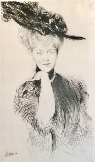 Paul César Helleu, 'Femme aux perles dans un chapeau aux plumes.', ca. 1900