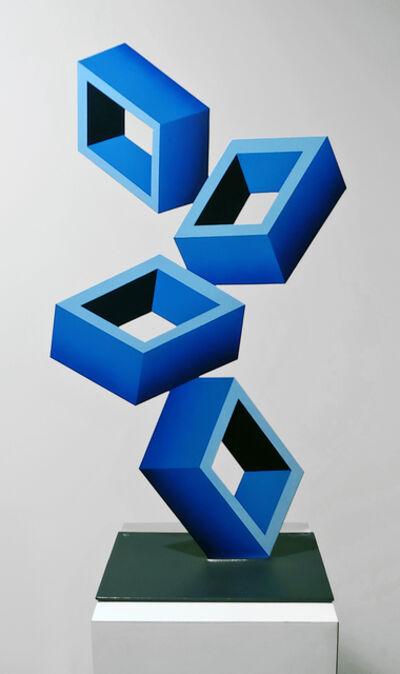 Daniel Sanseviero, '4 Blue Boxes', 2018