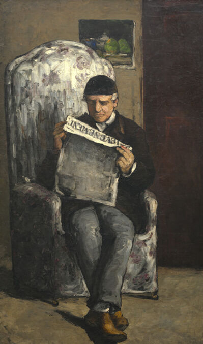 "Paul Cézanne, 'The Artist's Father, Reading ""L'Événement""', 1866"