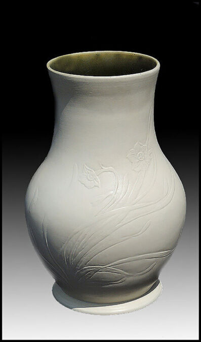 Louis Comfort Tiffany, 'Tiffany Floral Bisque Pottery Vase', 20th Century