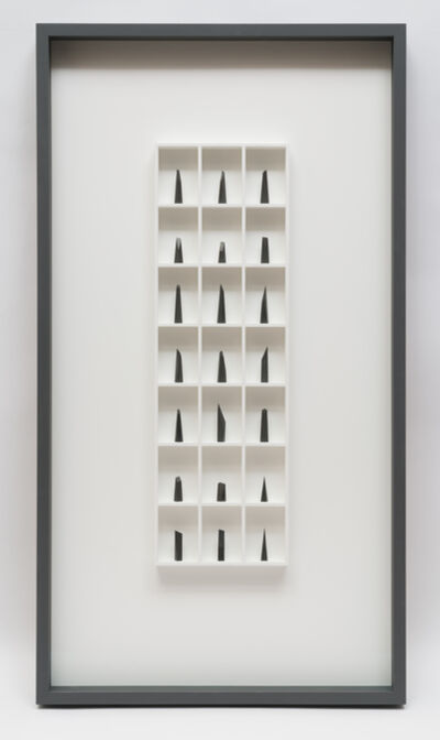 Paul Fry, '21 pieces of graphite (the edge of silence)', 2019