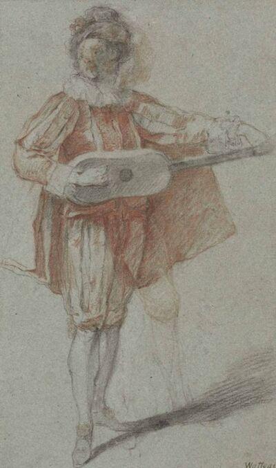 Michel Barthélémy Ollivier, 'A mandolin player'
