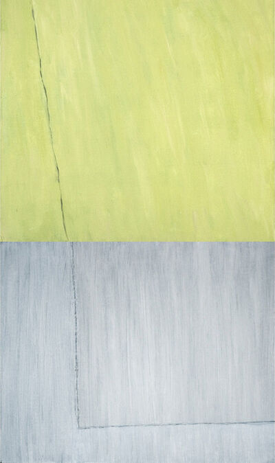 Francie Lyshak, 'Grey and Green Couple', 2011